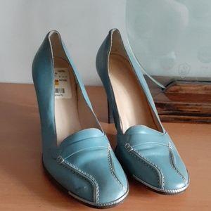 Bally Taramia Leather Heel Loafers 38